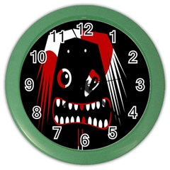 Zombie face Color Wall Clocks