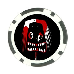 Zombie face Poker Chip Card Guards
