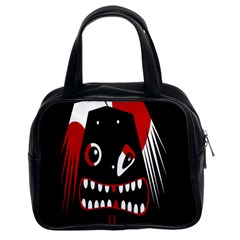 Zombie face Classic Handbags (2 Sides)