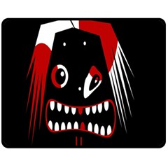 Zombie face Fleece Blanket (Medium)
