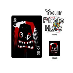 Zombie Face Playing Cards 54 (mini)