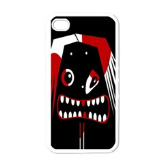 Zombie face Apple iPhone 4 Case (White)