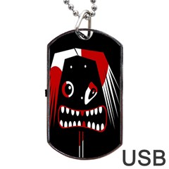 Zombie face Dog Tag USB Flash (One Side)