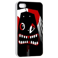 Zombie face Apple iPhone 4/4s Seamless Case (White)