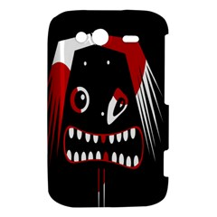 Zombie face HTC Wildfire S A510e Hardshell Case