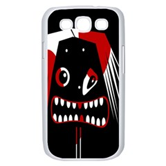 Zombie face Samsung Galaxy S III Case (White)