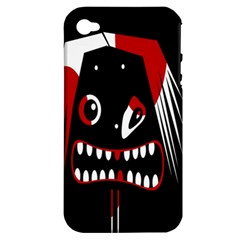 Zombie face Apple iPhone 4/4S Hardshell Case (PC+Silicone)