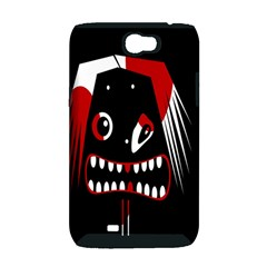 Zombie face Samsung Galaxy Note 2 Hardshell Case (PC+Silicone)