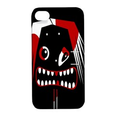Zombie face Apple iPhone 4/4S Hardshell Case with Stand