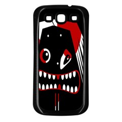 Zombie face Samsung Galaxy S3 Back Case (Black)