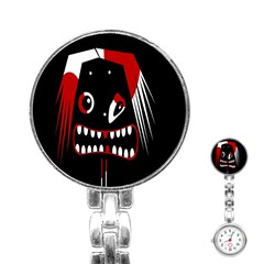 Zombie face Stainless Steel Nurses Watch
