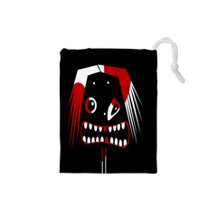Zombie face Drawstring Pouches (Small)