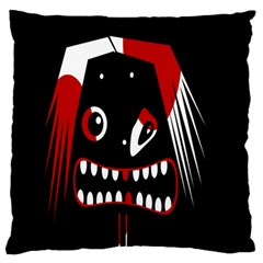 Zombie face Large Flano Cushion Case (Two Sides)