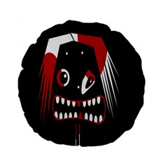 Zombie face Standard 15  Premium Flano Round Cushions