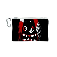 Zombie face Canvas Cosmetic Bag (S)
