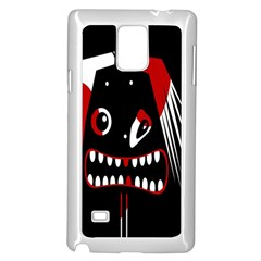 Zombie face Samsung Galaxy Note 4 Case (White)