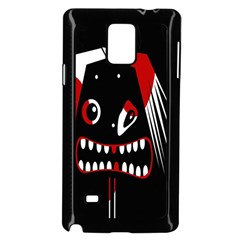 Zombie face Samsung Galaxy Note 4 Case (Black)