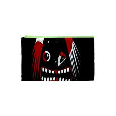 Zombie face Cosmetic Bag (XS)