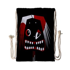 Zombie face Drawstring Bag (Small)