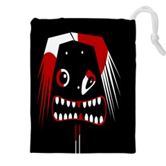 Zombie face Drawstring Pouches (XXL)