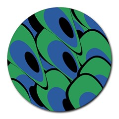Peacock pattern Round Mousepads