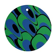 Peacock pattern Ornament (Round)