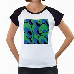 Peacock pattern Women s Cap Sleeve T