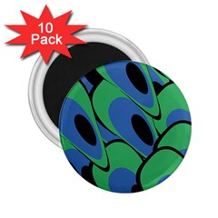 Peacock pattern 2.25  Magnets (10 pack)