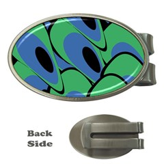 Peacock pattern Money Clips (Oval)
