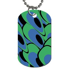 Peacock pattern Dog Tag (Two Sides)