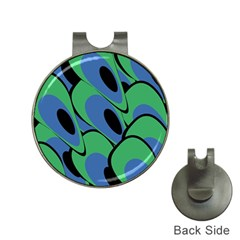 Peacock pattern Hat Clips with Golf Markers