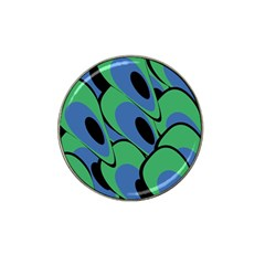 Peacock pattern Hat Clip Ball Marker (10 pack)