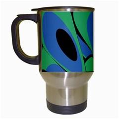 Peacock pattern Travel Mugs (White)