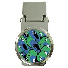 Peacock pattern Money Clip Watches