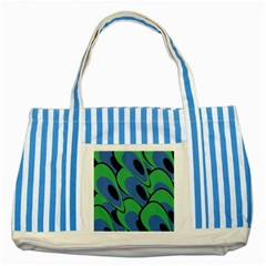 Peacock pattern Striped Blue Tote Bag