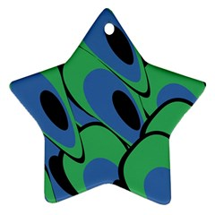 Peacock pattern Star Ornament (Two Sides)