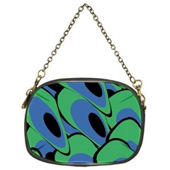 Peacock pattern Chain Purses (One Side)