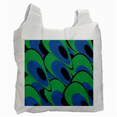Peacock pattern Recycle Bag (One Side)