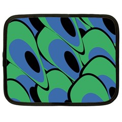 Peacock pattern Netbook Case (XL)