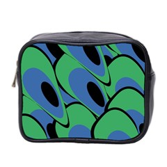Peacock pattern Mini Toiletries Bag 2-Side
