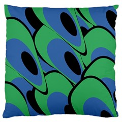 Peacock pattern Large Cushion Case (One Side)