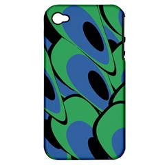 Peacock pattern Apple iPhone 4/4S Hardshell Case (PC+Silicone)