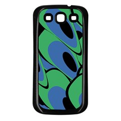 Peacock pattern Samsung Galaxy S3 Back Case (Black)