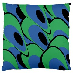 Peacock pattern Large Flano Cushion Case (Two Sides)