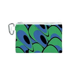 Peacock pattern Canvas Cosmetic Bag (S)