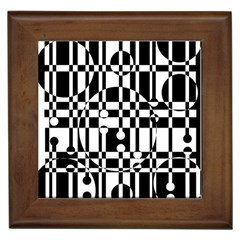Black and white pattern Framed Tiles