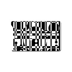 Black and white pattern Magnet (Name Card)