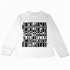 Black and white pattern Kids Long Sleeve T-Shirts
