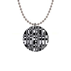 Black and white pattern Button Necklaces