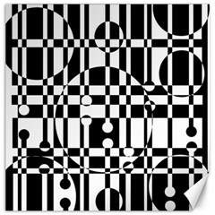 Black and white pattern Canvas 12  x 12